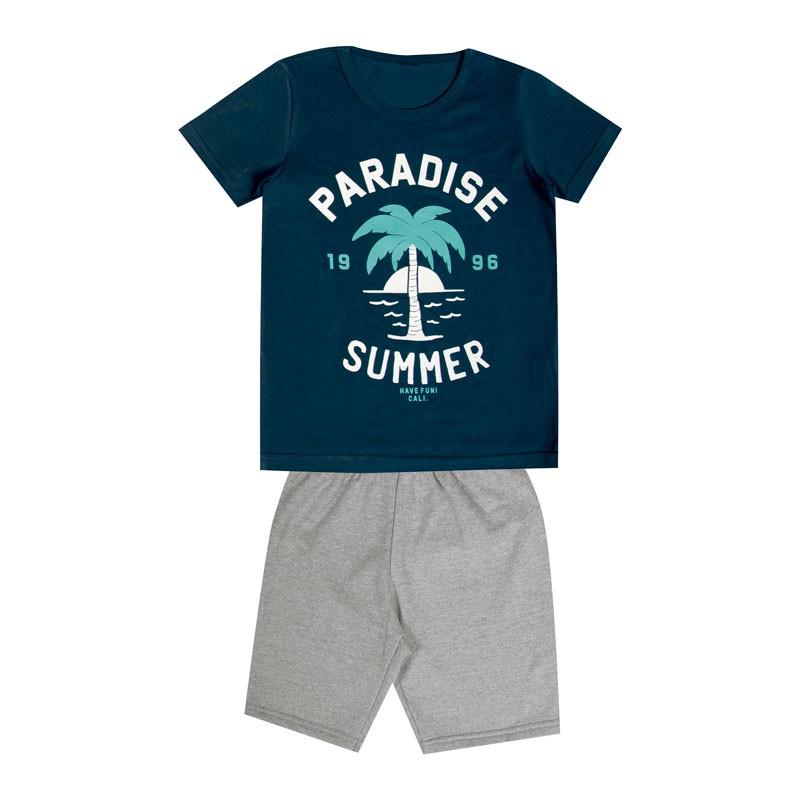 Conjunto Infantil Menino Paradise Summer Azul
