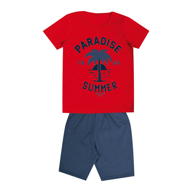 Conjunto Infantil Menino Paradise Summer Laranja