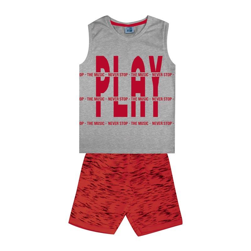 Conjunto Infantil Menino Play Cinza
