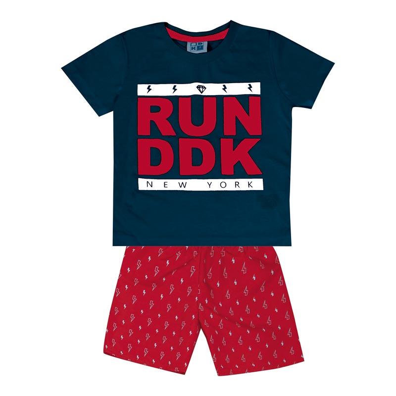 Conjunto DDK Infantil Menino Run DDK Azul