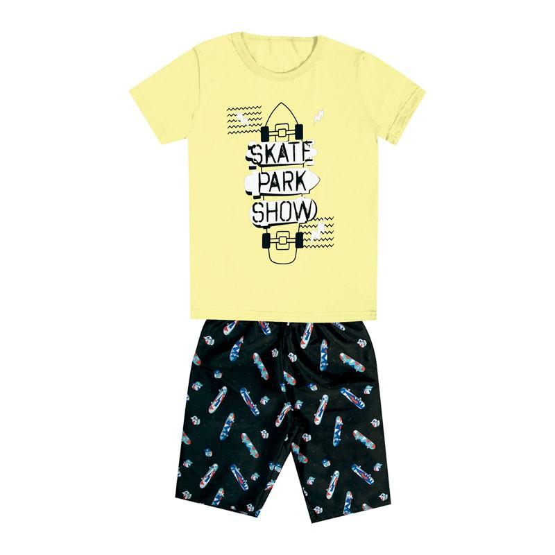 Conjunto DDK Infantil Menino Skate Amarelo