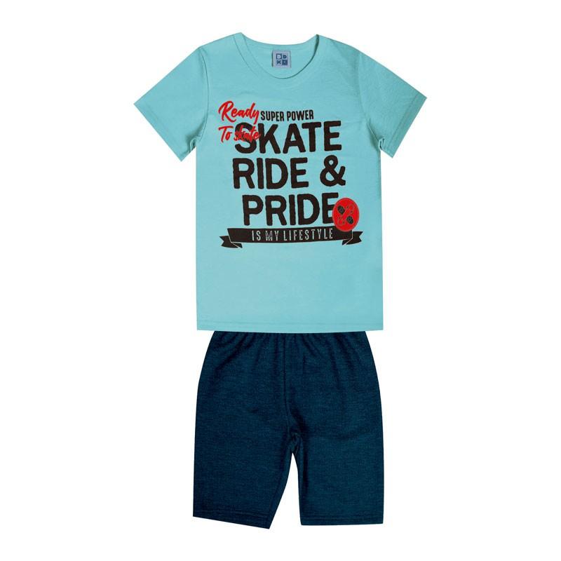 Conjunto Infantil Menino Skate Azul