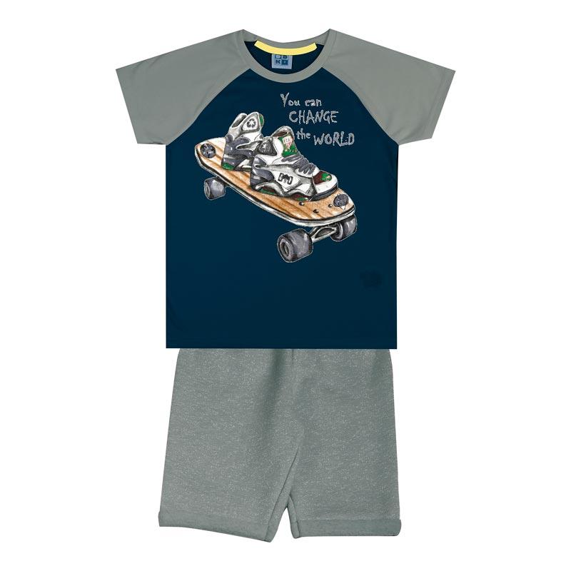 Conjunto DDK Infantil Menino Skate Azul