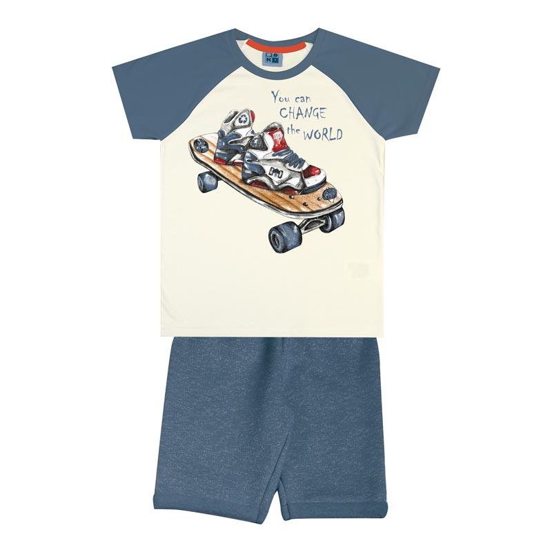 Conjunto DDK Infantil Menino Skate Bege