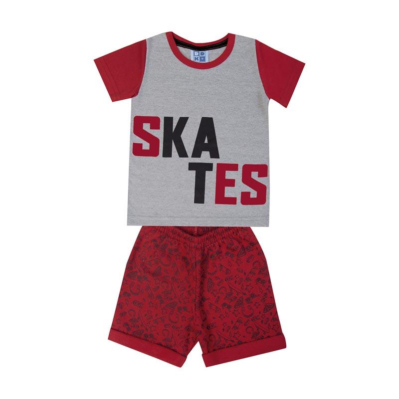 Conjunto Infantil Menino Skates Cinza