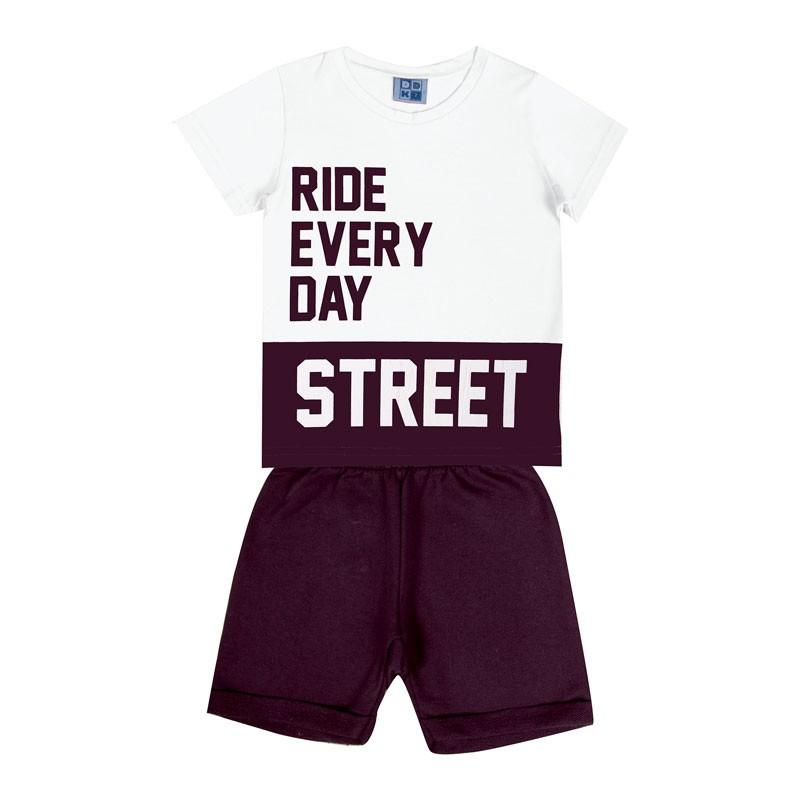 Conjunto DDK Infantil Menino Street Branco