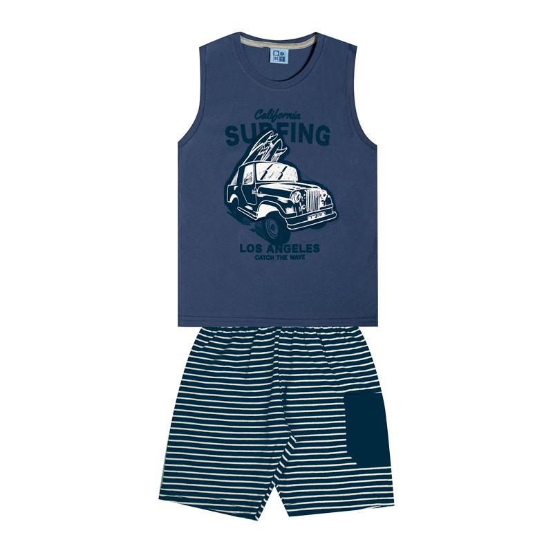 Conjunto Infantil Menino Surfing Azul
