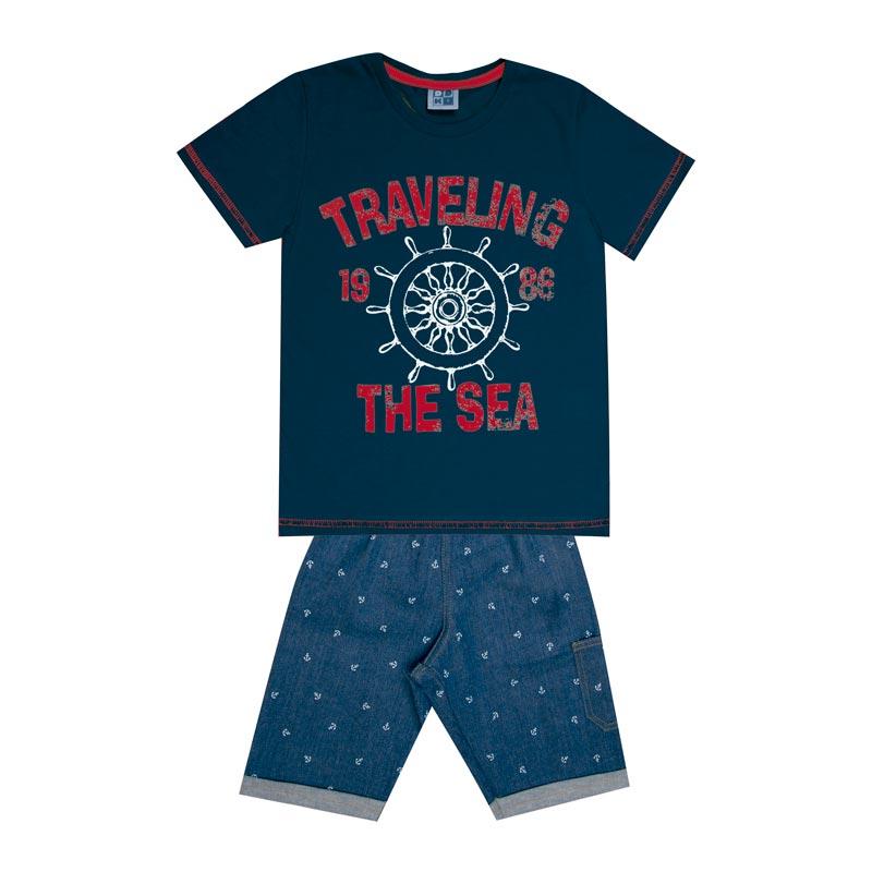 Conjunto DDK Infantil Menino Travelling Azul