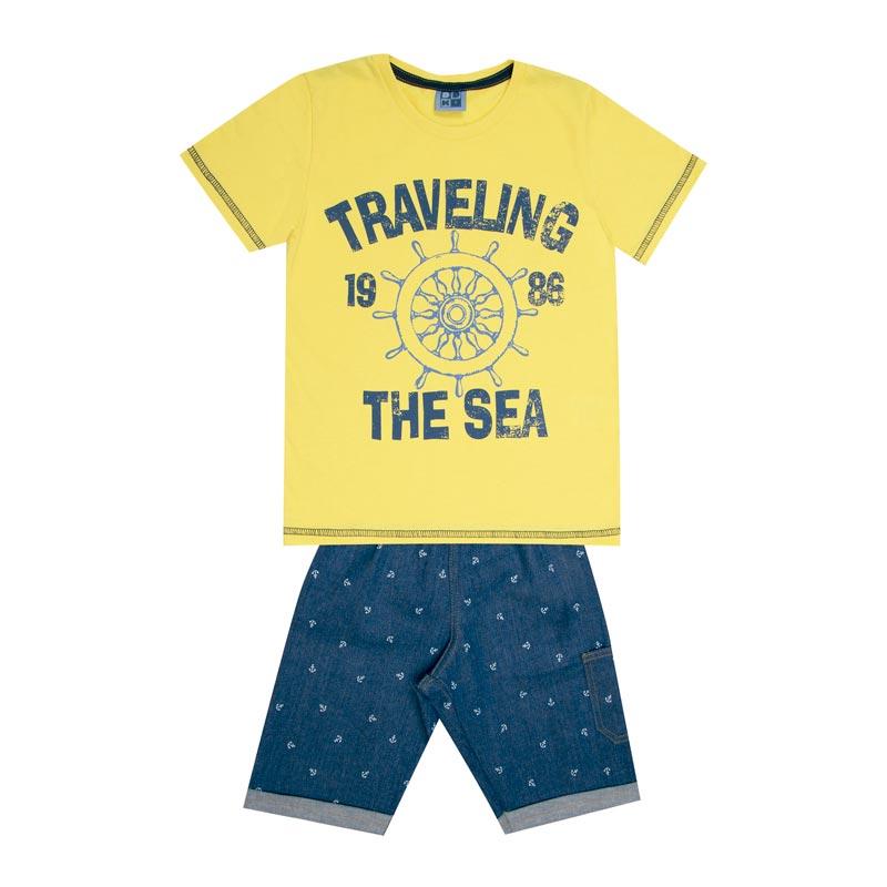 Conjunto Infantil Menino Travlling Amarelo