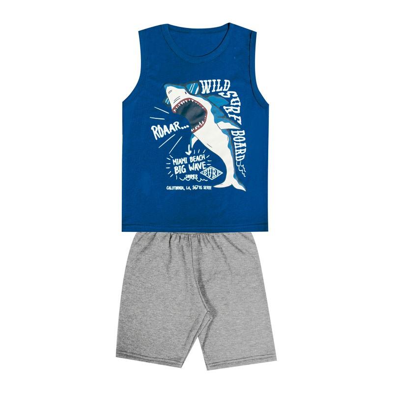 Conjunto Infantil Menino Tubarão Azul