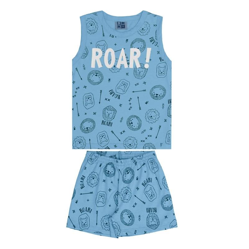 Conjunto Pijama DDK Infantil Menino Roar Azul