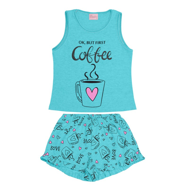Conjunto Pijama Duduka Infantil Menina Azul