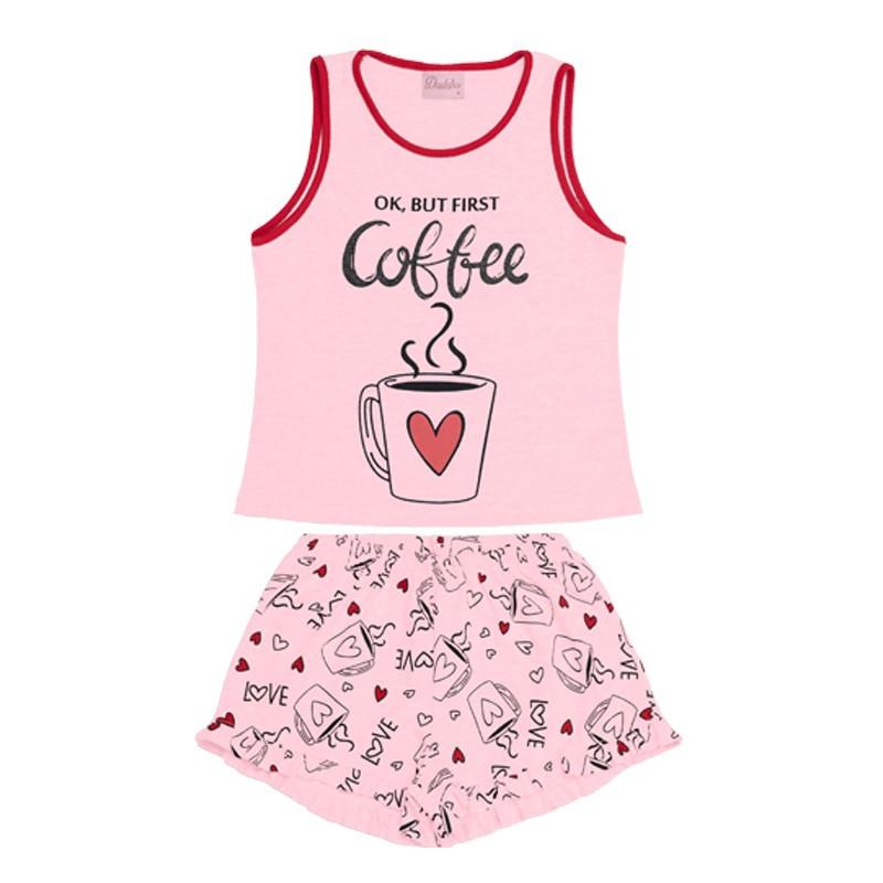 Conjunto Pijama Duduka Infantil Menina Rosa