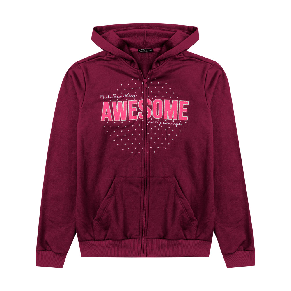 Jaqueta Cobertura Juvenil/Adulto Feminina Awesome Bordo
