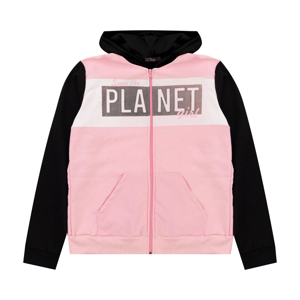 Jaqueta Cobertura Juvenil/Adulto Feminina Planet Rosa