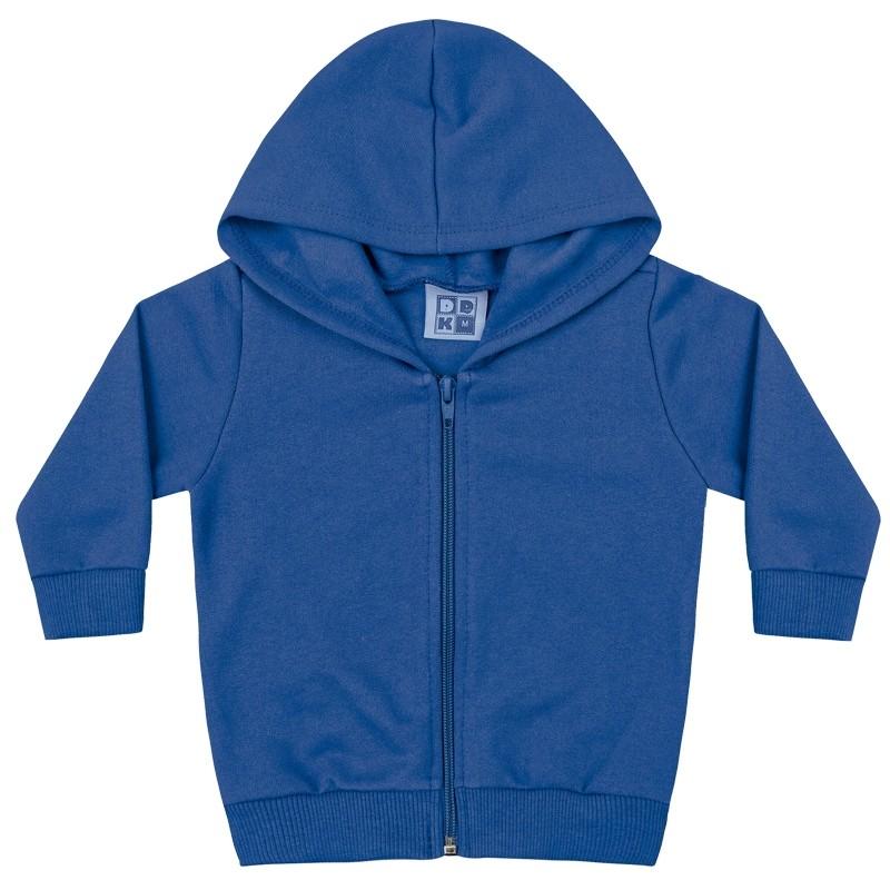 Jaqueta DDK Infantil Menino Básica com Capuz Azul