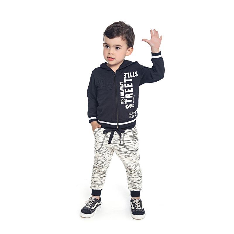 Jaqueta DDK Infantil Menino com Capuz Preto