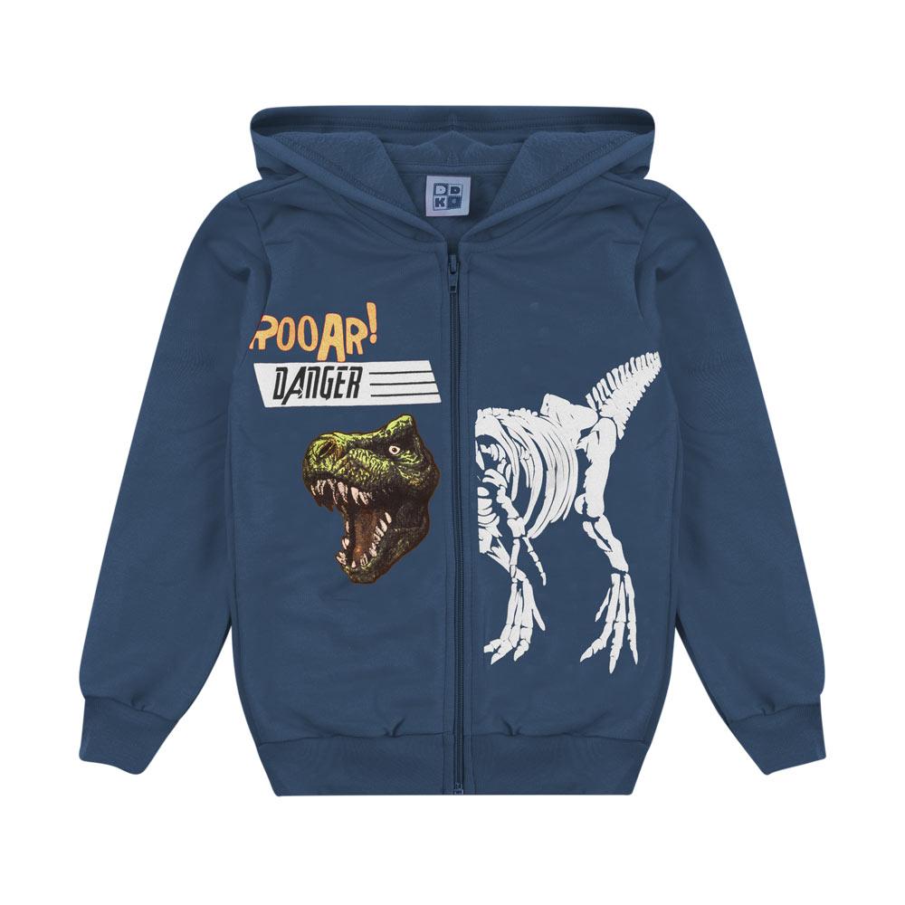 Jaqueta DDK Infantil Menino  Dinossauro Azul