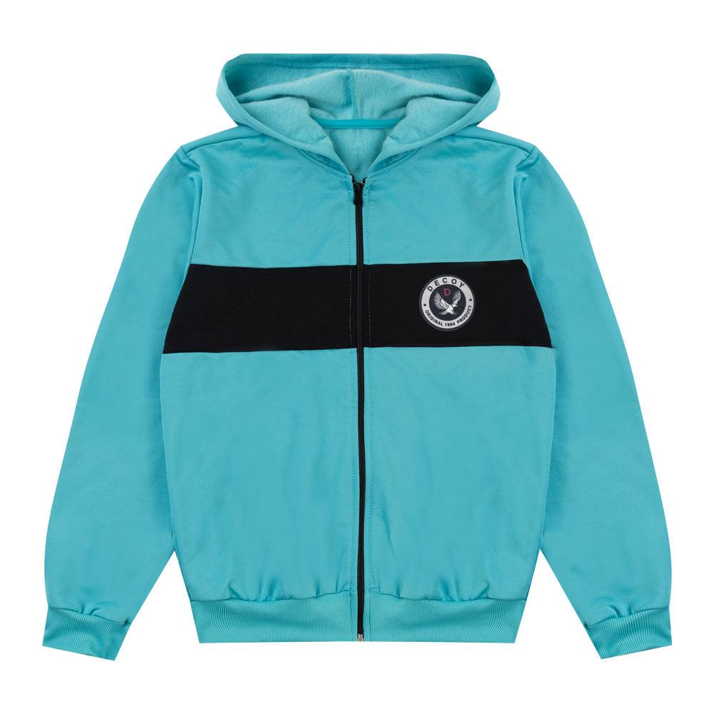 Jaqueta de Inverno Decoy Juvenil/Adulto Masculino com Capuz Azul Claro