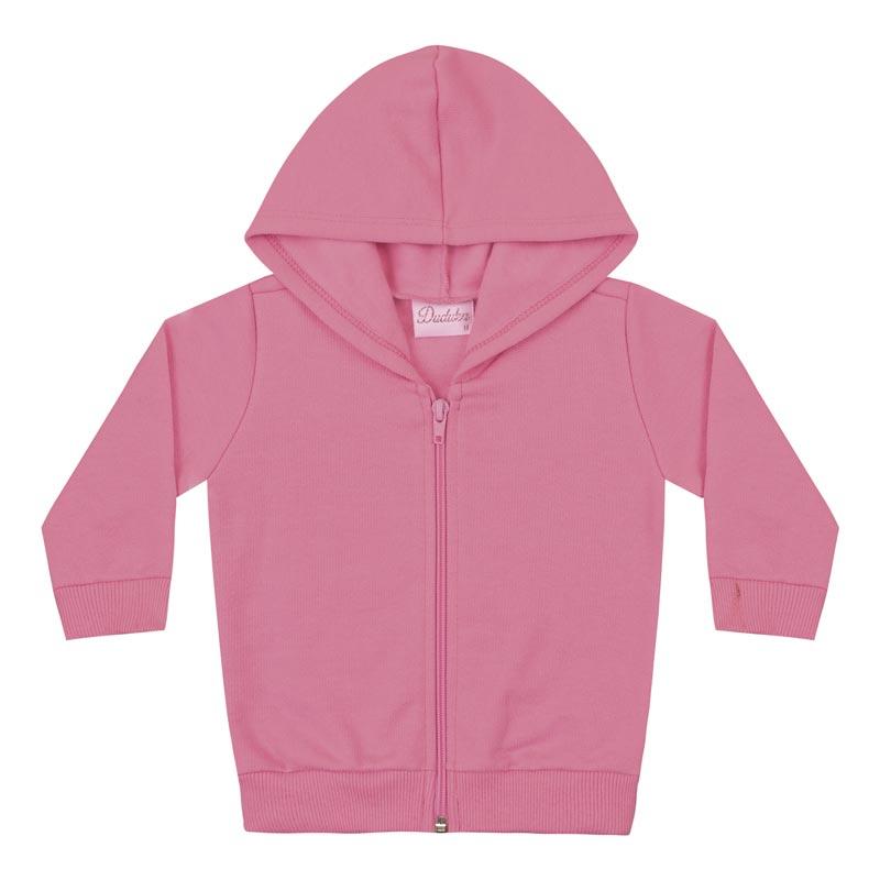Jaqueta Duduka Infantil Menina Básico Rosa