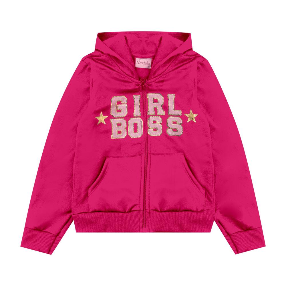Jaqueta Duduka Infantil Menina Girls Boss Rosa