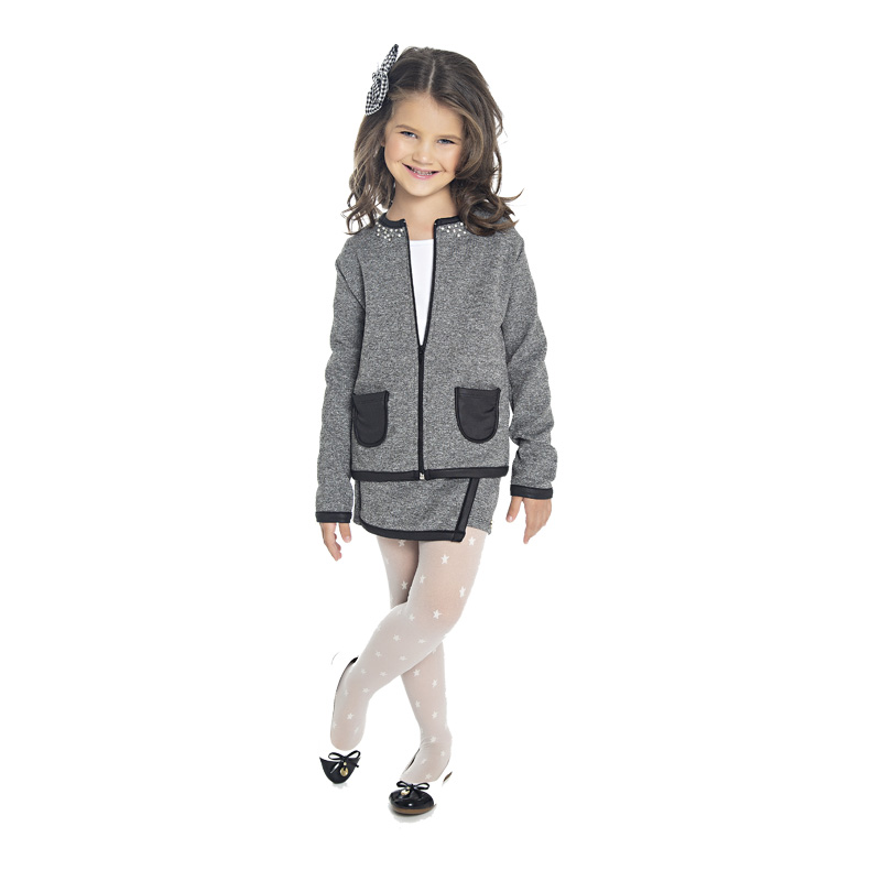 Jaqueta Infantil com Bolso Cinza - Paytê