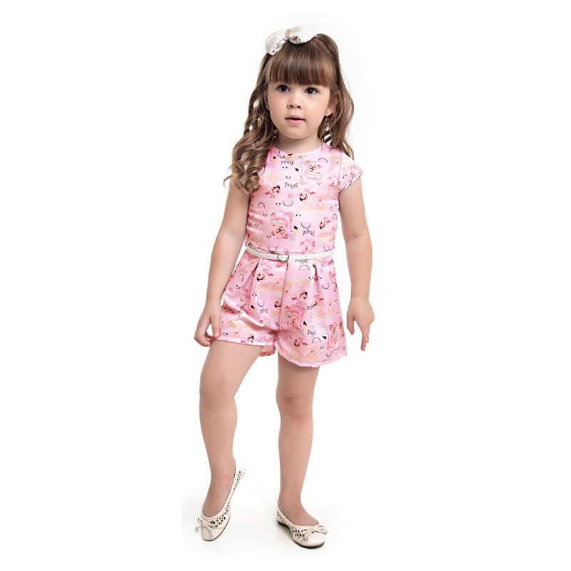 Macaquinho  Paytê Infantil Menina Cachorrinho Rosa