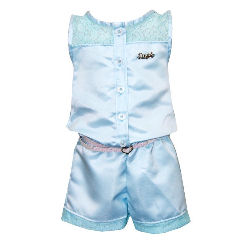 Macaquinho Infantil Menina Azul