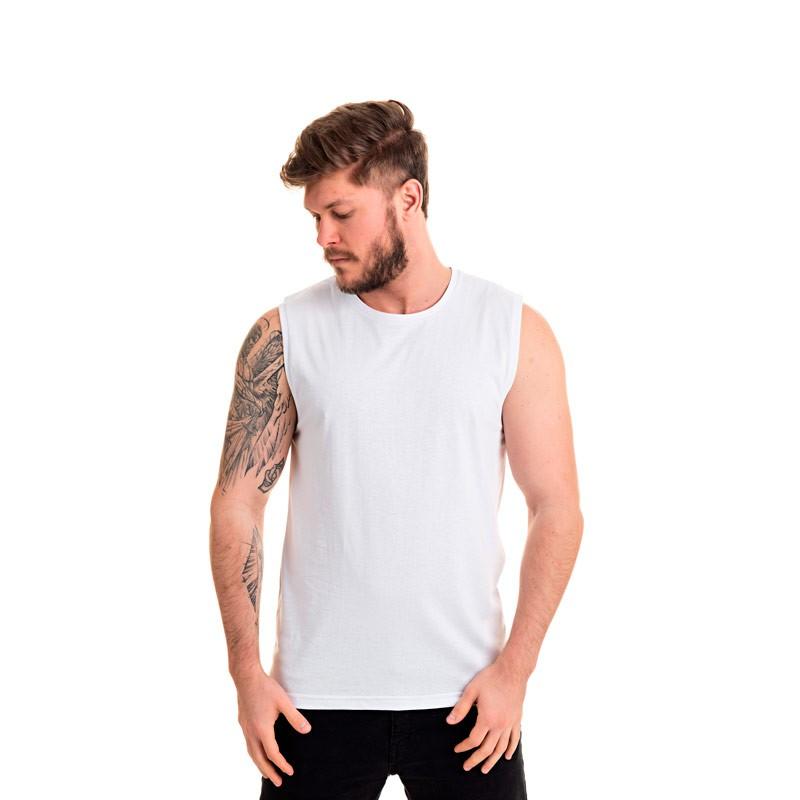 Machão Adulto Masculino Básica Branco