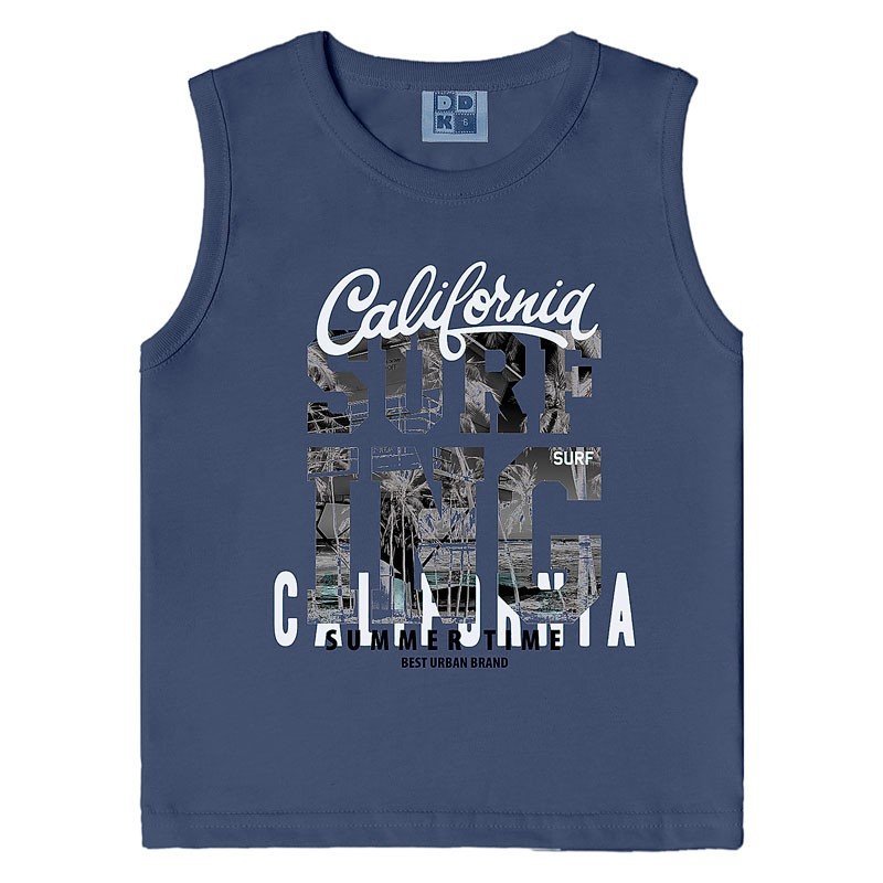 Machão DDK Infantil Menino California Azul