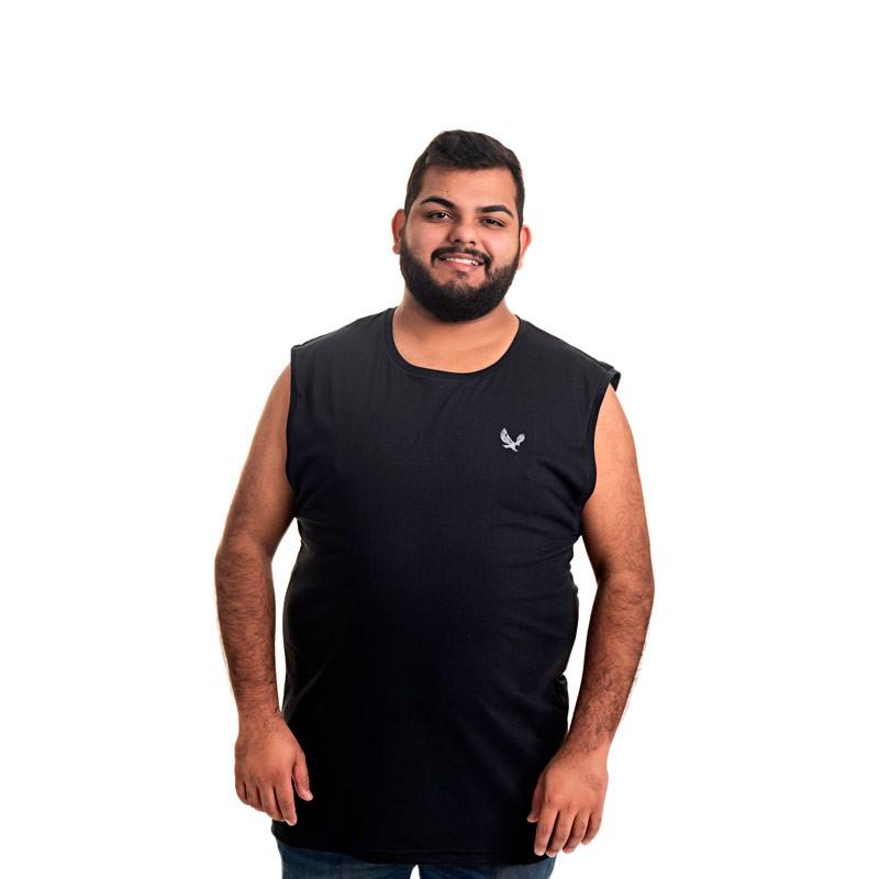 Machão Decoy Plus Size Masculino Básica Preto