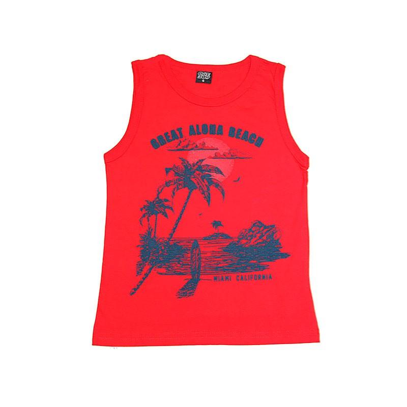 Machão Infantil Menino Aloha Beach Vermelho