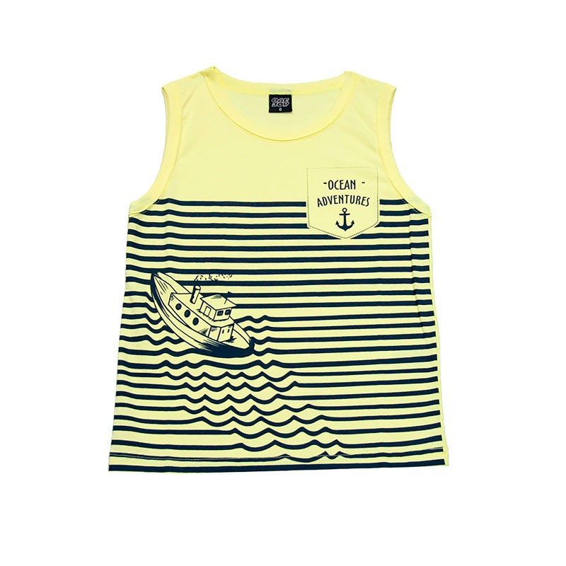 Machão Infantil Menino Barco Amarelo
