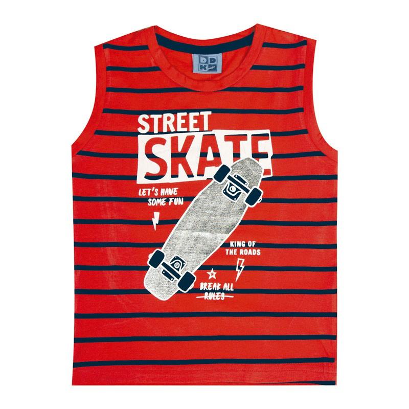 Machão Infantil Menino Skate Laranja