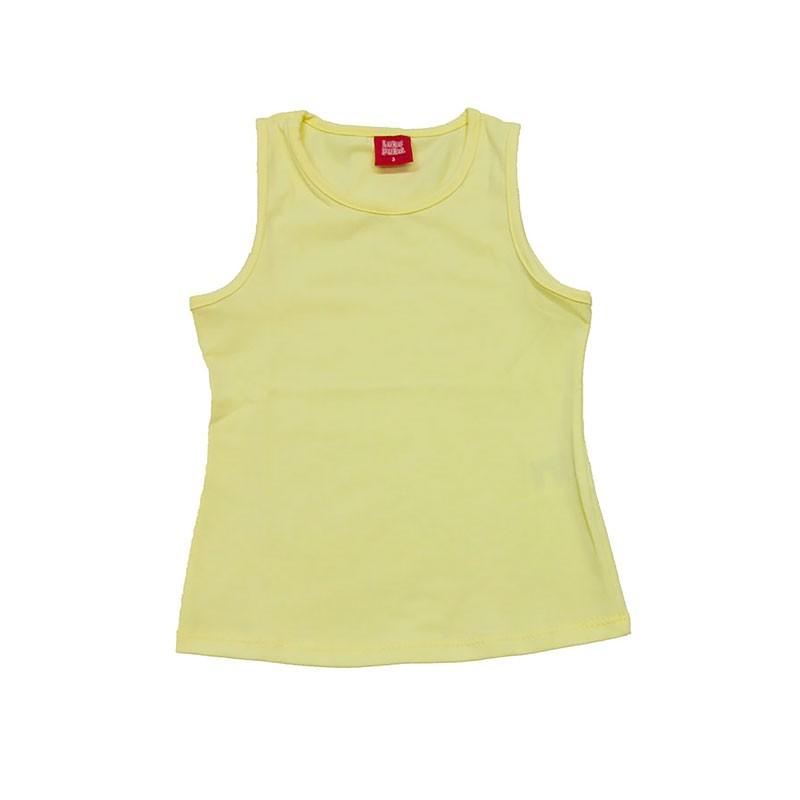 Regata Infantil Menina Básica Amarelo