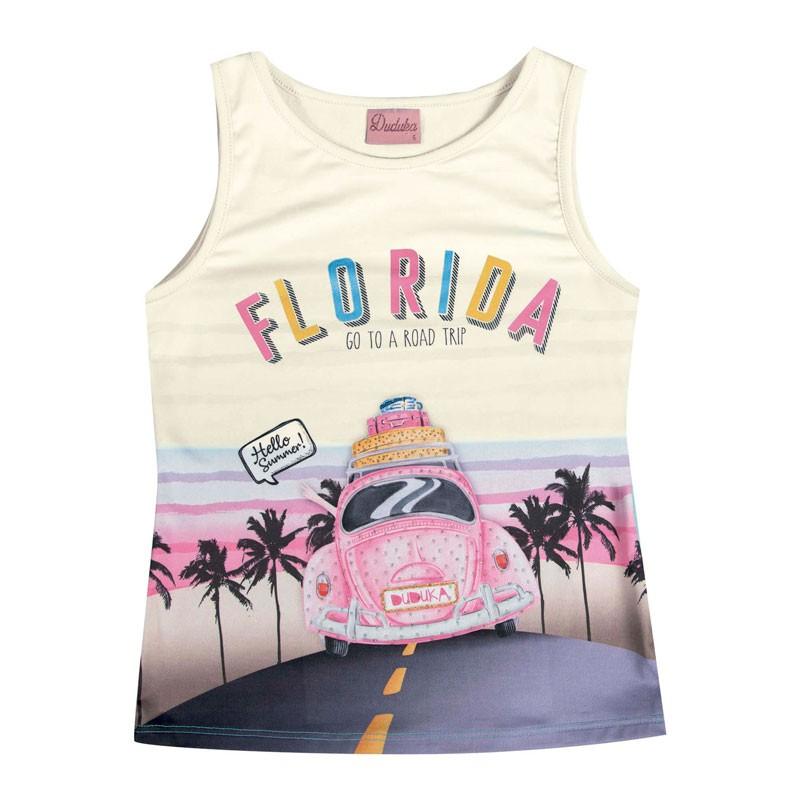 Regata Infantil Menina Florida Bege