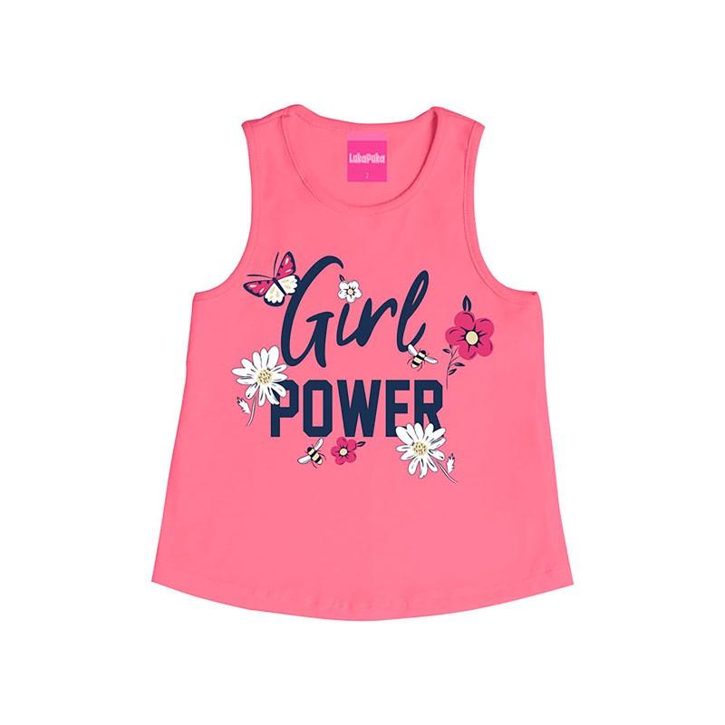 Regata Infantil Menina Girl Power Rosa