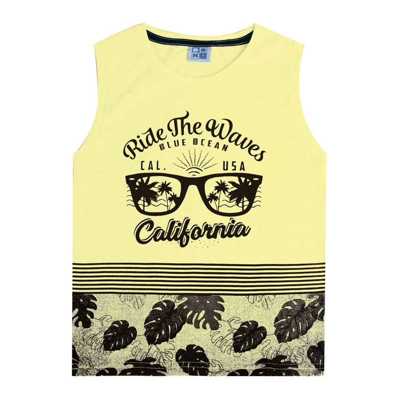 Regata Machão Infantil Menino Califórnia Amarelo