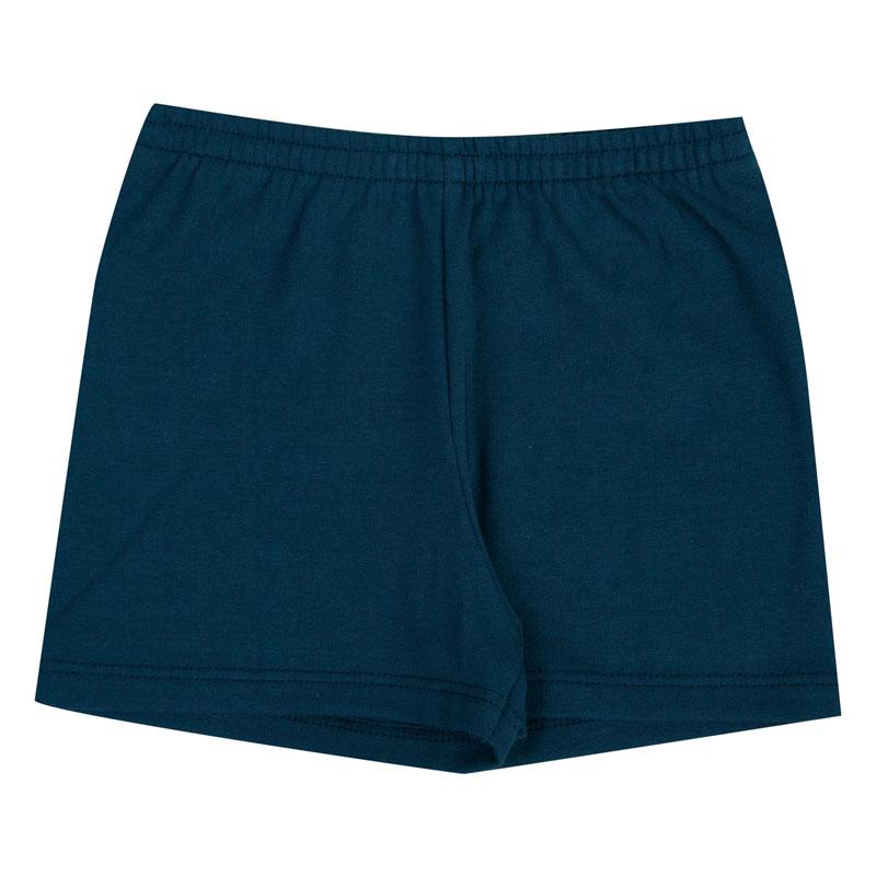 Shorts Duduka Infantil Menina Básica Azul