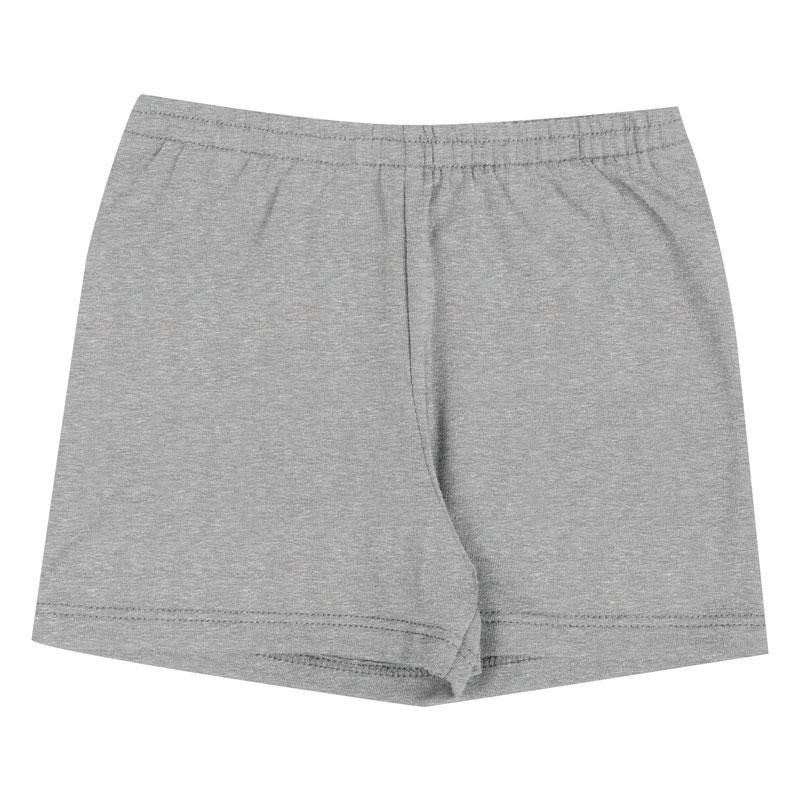 Shorts Duduka Infantil Menina Básica Cinza