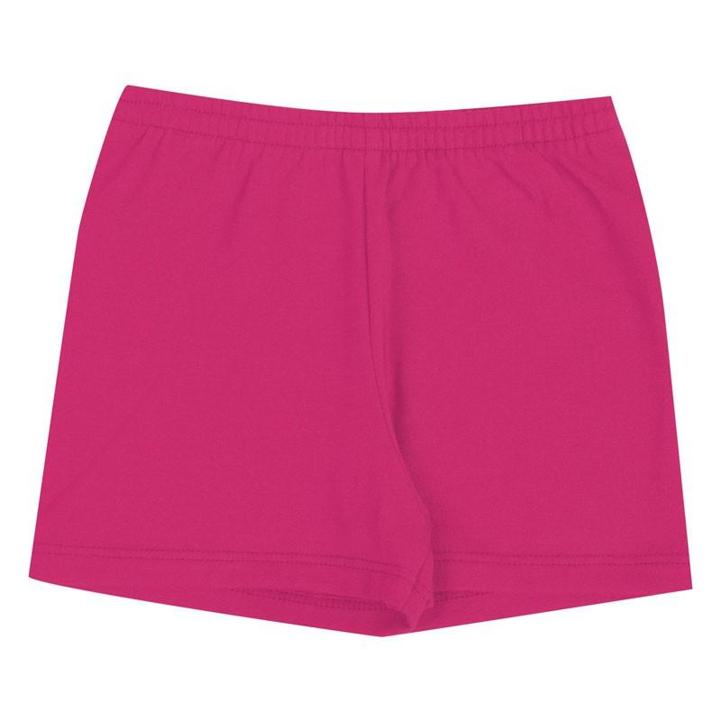 Shorts Duduka Infantil Menina Básica Rosa