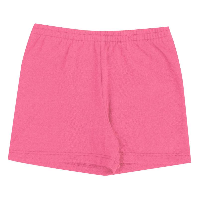 Shorts Infantil Menina Básica Rosa
