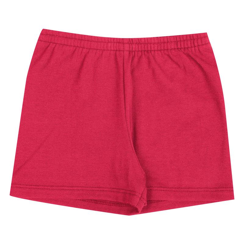 Shorts Infantil Menina Básica Vermelho