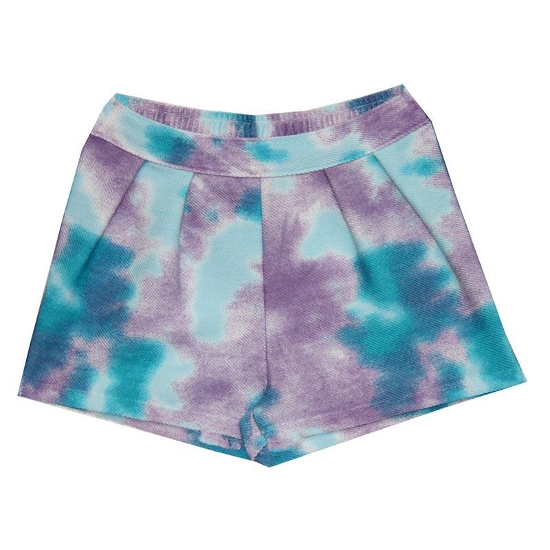 Shorts Infantil Menina Tie Dye Azul
