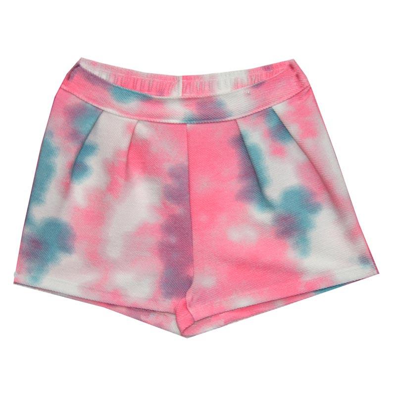 Shorts Infantil Menina Tie Dye Rosa