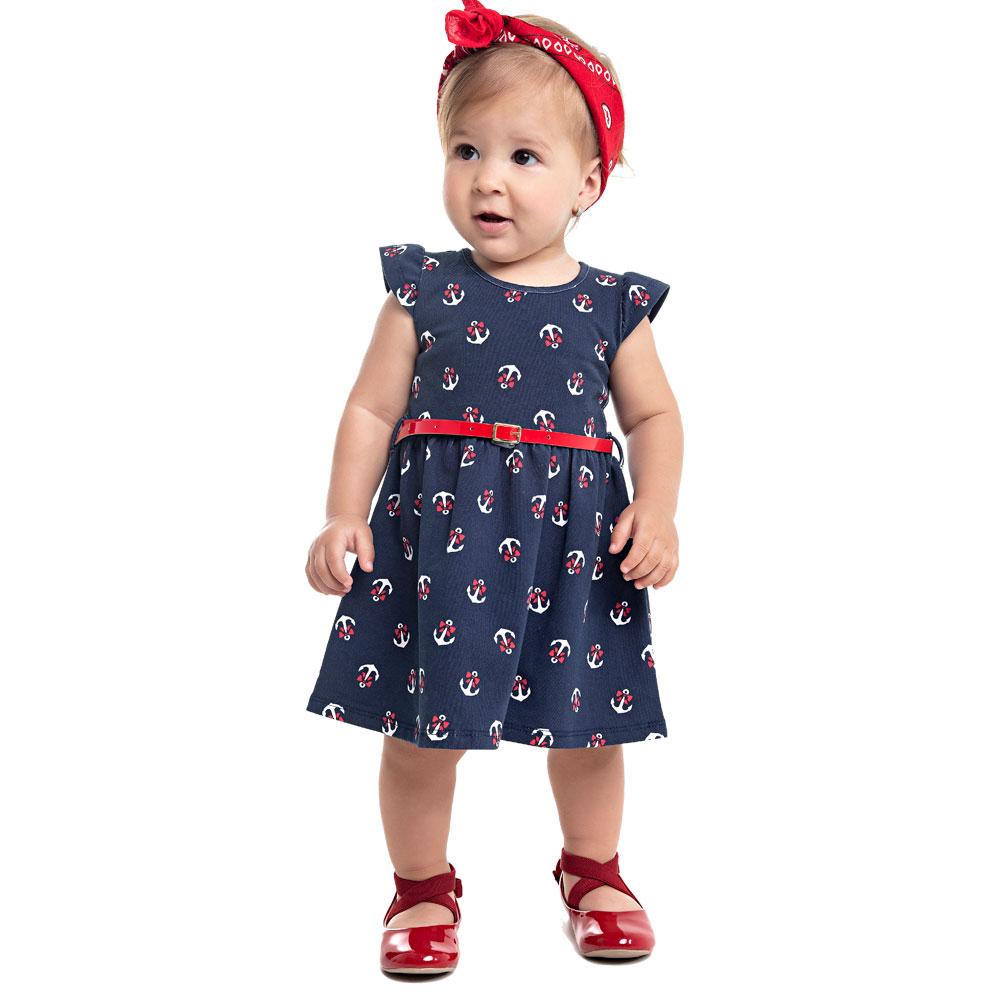 Vestido Âncora Bebê - Duduka