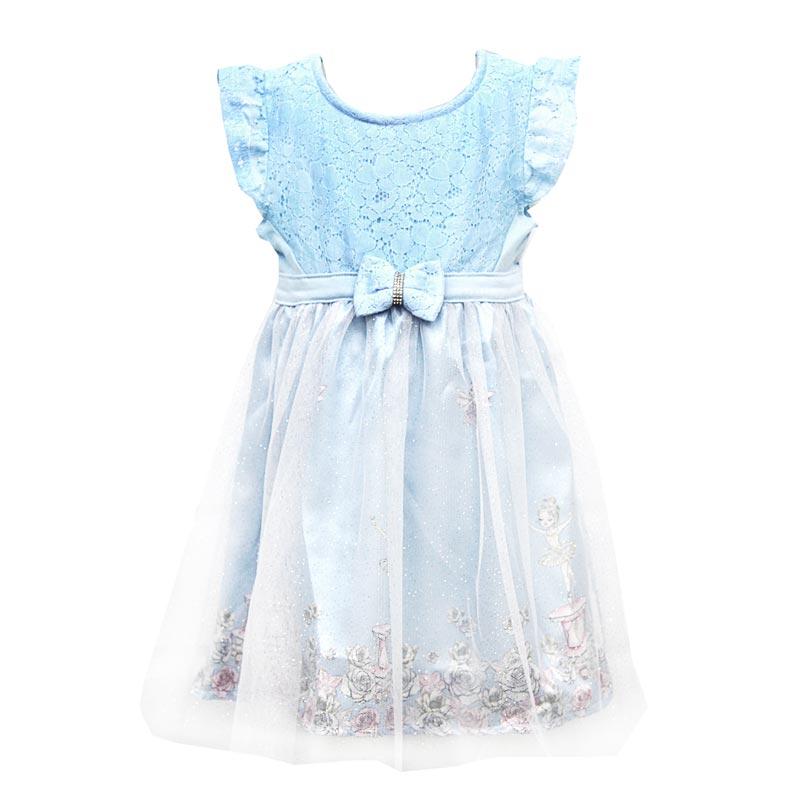 Vestido Bebê Menina Bailarina Azul