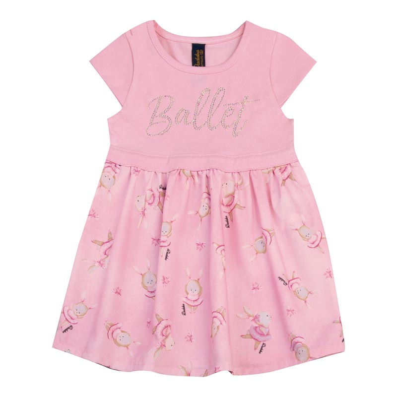 Vestido Bebê Menina Ballet Rosa