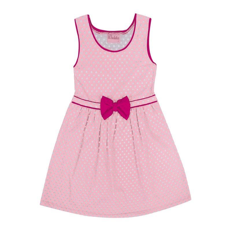 Vestido Bebê Menina Bolinha Rosa
