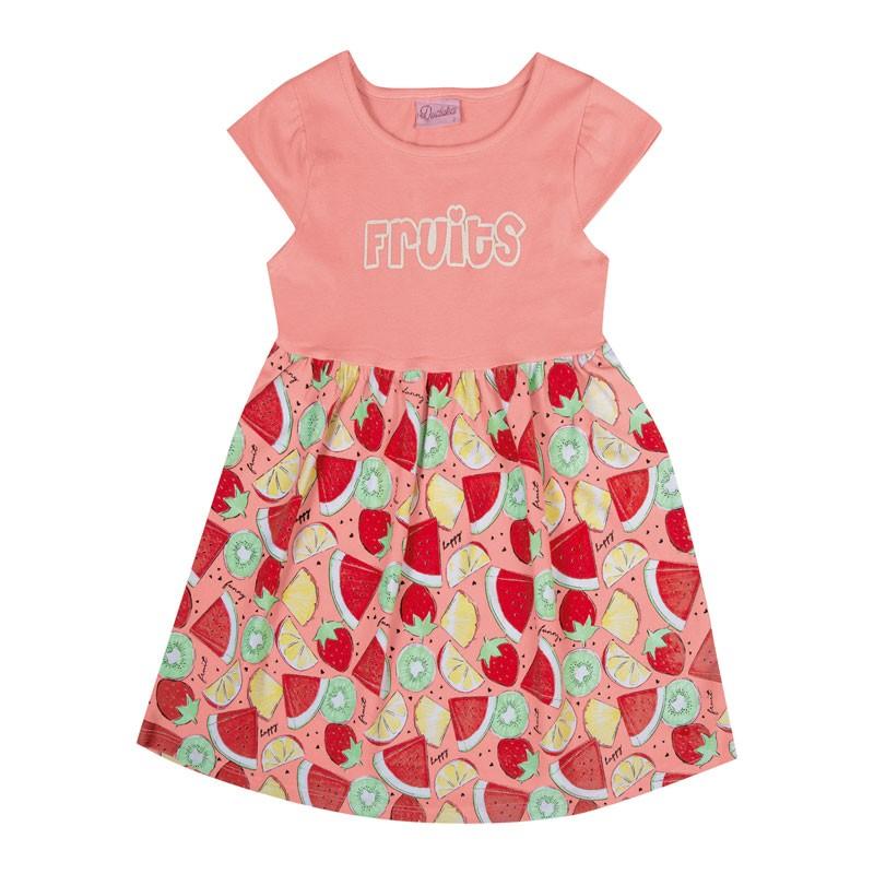 Vestido Bebê Menina Fruits Salmão